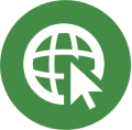 Power to Save green icon for online shopping