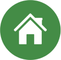 Power to Save green icon with house